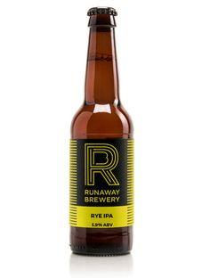 Runaway Brewery Rye IPA bottle Beer Bottle, Whiskey Bottle, Craft Ale, Beer Label, Best Beer, Running Away, Brewery, Beer 101, Hot Shots