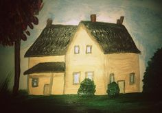 Vintage house #Painting