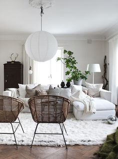 Wicker chairs for extra seating