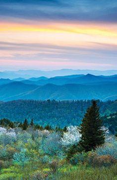Sunset over the Great Smoky Mountains #GrouponGetaways