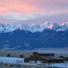 Sangre de Cristos! One of my favorite places, the view from my grandparent's last house-  living room, master bedroom and kitchen.This is not their view. Will post later.