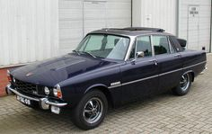 Rover P6 3500S with a Webasto sunroof and boot mounted spare wheel....