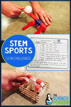 STEM Sports: I was inspired by the Summer Games to create this fun project with 5 STEM challenges! Your students will love it and learn a lot!