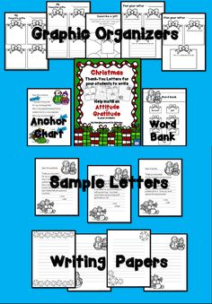 A new product from Hanging Around In Primary.  Instill an attitude of gratitude in your students and have them write thank you letters for their Christmas gifts.