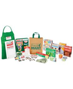 Melissa & Doug Fresh Mart Grocery Store Companion Collection (Play Sets & Kitchens Great Gift for Girls and Boys - Best for 3 4 5 Year Olds and Up) Pretend Food, Play Food, Pretend Play, Role Play, Play Grocery Store, Play Money, Melissa & Doug, Granola Bars, Power Rangers