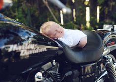 Newborn photo on Harley Davidson
