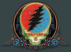 SugarSkull Steal your Face Grateful Dead Grateful Dead Skull, Grateful Dead Image, Grateful Dead Poster, Better Off Dead, Tumblr, Music Images, Forever Grateful, Summer Solstice, Halloween