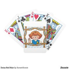 Daisy Red Hair Bicycle Playing Cards