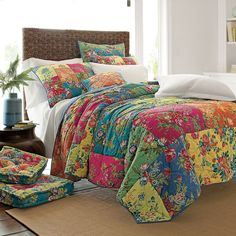 A beautiful patchwork design full of colour