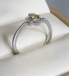 Art deco style diamond ring, Vintage inspired feminine comfortable Engagement ring, Natural Yellow Diamond ring, Affordable Wedding ring by BridalRings on Etsy https://www.etsy.com/listing/280336532/art-deco-style-diamond-ring-vintage