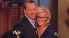 """Jenny McCarthy's got the right stuff for Donnie Wahlberg! """"The View"""" host happily announced she was engaged to the New Kids On The Block singer on Wednesday's episode of the ABC talk show. The View Hosts, Jenny Mccarthy, Donnie Wahlberg, Magic Mike, The Right Stuff, Blue Bloods, Block Party, Channing Tatum, Getting Engaged"""