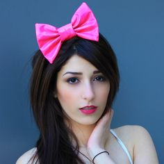PVC Fabric Hair Bow Pvc Fabric, Fabric Hair Bows, Starry Eyed, Sewing Notions, Makeup Inspiration, Hair And Nails, Hot Pink, Makeup Looks, Hair Makeup
