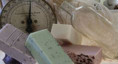 Homemade Artisan Soaps! Huge 6 oz brick of luxurious soap for $6.00! Will last 4- 6 weeks in the shower and is wonderful for your face as well!