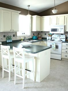 before and after photos of an entire house using just redecorating and reorganizing-no renovations