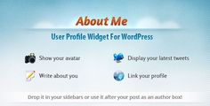 User Profile Widget for WordPress - About Me