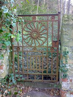 Ornate cast iron gate.../