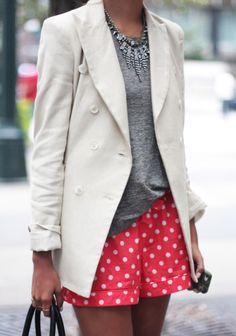 Polka Dot Prints spring outfit