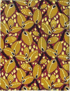 """Wallpaper and textile designs by Garcelon, ca. 1930, """"Papiers peints et tentures modernes"""" by Henri Clouzot, pochoir."""