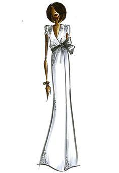 Diane Von Furstenberg sketch for Michelle Obama.