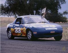 Car 102 - 25th race car - 1990 Mazda Miata - LaJunta 6-16-91 - After the Kent crash there were 5 SCCA National Race wins in a row and the Southern Pacific Division Championship in SSC.