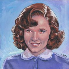 Lorraine from Back to the Future…  Done on 6x6 inch Aquabord with Winsor & Newton Gouache Paints