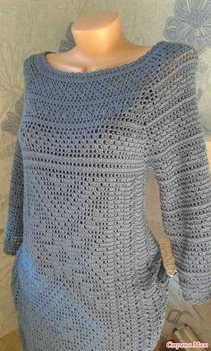 Платье крючком (филейное вязание) - Вязание - Страна Мам