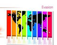 Plan de Table Voyage - Evasion