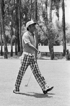 King Hassan II of Morocco Playing Golf
