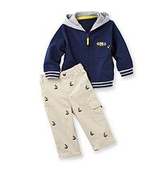 Little Me® Baby Boys' Navy Captain Jacket Set at www.bonton.com