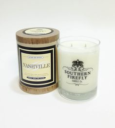 Nashville Scented Soy Candle in Home by Southern Firefly Candles on Scoutmob Shoppe. This scented, clean-burning soy candle smells of an iconic blend of Tennessee Whiskey mixed with the leather scent of a Nashville boot shop.