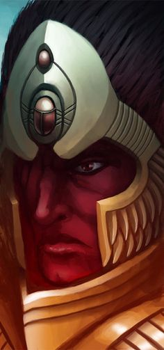 Magnus the Red of the Thousand Sons rose to become a Daemon Prince of Tzeentch and the master of the Planet of the Sorcerers within the Eye of Terror. Warhammer Art, Warhammer 40000, Thousand Sons, High Fantasy, Concept Art, Fan Art, Portrait, Illustration, Artwork