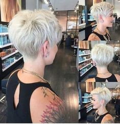 35 Best Short Pixie Cuts to Refresh Your Look Today! - Short Pixie Cuts Best Short Pixie Haircuts to Refresh Your Look We will help you choose a haircut for long, medium and short hair. Remember that a good hairstyle can e. Thin Hair Cuts, Short Hair Cuts For Women, Short Hairstyles For Women, Short Hair Styles, Straight Hair, Haircut For Older Women, Haircut For Thick Hair, Pixie Haircut For Round Faces, Pixie Cut Round Face