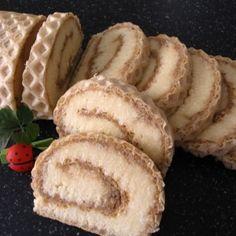 Roláda s karamelovo-kokosovou náplňou | recepty pečenie | koláče, zákusky, torty | najpečenie.sk