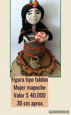 Mujer mapuche Felting, Samurai, Flower, Godchild, Ethnic Dress, Samurai Warrior