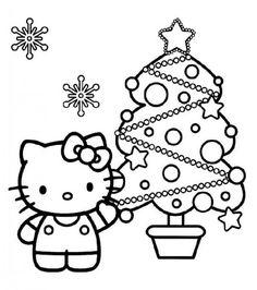 Dibujos Para Colorear De Hello Kitty Es Un Personaje Que Despierta Furor Entre Christmas Tree Coloring PageColoring