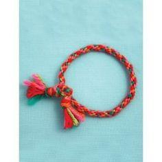 Kumihimo Friendship Bracelet in Bernat Satin