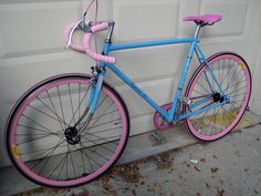 Fuji fixed gear bicycle ( baby blue and pink )