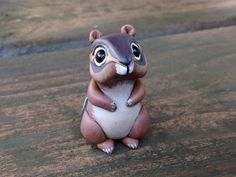 Chipmunk: Handmade miniature polymer clay animal by AnimalitoClay