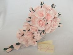 Bridal bouquetwedding bouquetpaper flowerroses by Mazziflowers