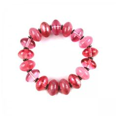 Lacrom - Sharra Pagano - Bracelet Beads in glass with internal elastic.