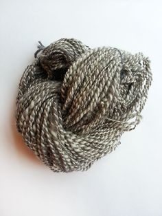 Grey and white Jacobs hand spun 2ply yarn