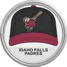 Idaho Falls Padres hat - baseball cap - sports logo - uniform - Pioneer League - Minor League Baseball - MiLB - Created by John Majka