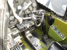 P-38 cockpit and yoke.