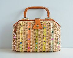 Hey, I found this really awesome Etsy listing at https://www.etsy.com/listing/185191037/vintage-wicker-handbag-1960s-gary-gail