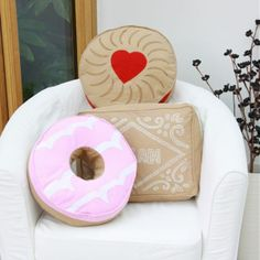 Biscuit Shaped Cushions, Choose From Party Ring, Custard Cream Or Jammie  Dodger! @