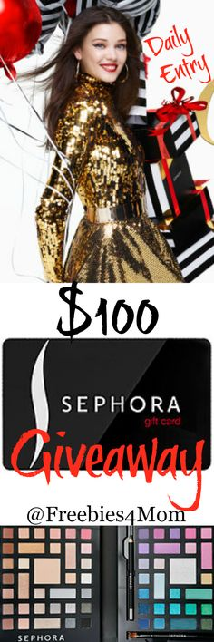 Enter to win a $100 Sephora Gift Card Giveaway ENTER  http://freebies4mom.com/winsephora OhWhatFun (ends 11/20/15)
