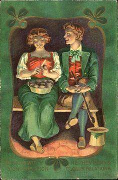Irish Potato Vintage Postcards - St. Patrick's Day