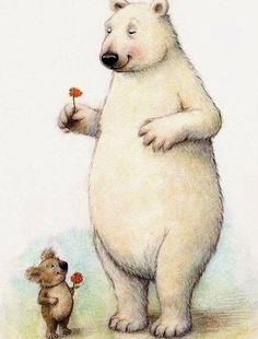 Petra Brown Polar Bear and Koala Art And Illustration, Brown Art, Tatty Teddy, Bear Art, Polar Bear, Cute Art, Illustrators, Cute Pictures, Cute Animals