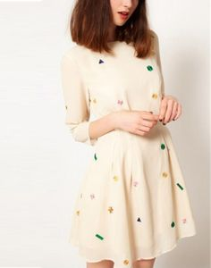 in LOVE with this funky gem frock