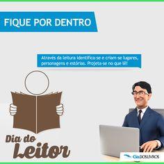 #ProfHoraciocomenta a comemoração do dia de todos nós! O Dia do Leitor!!! ;-) 8-)  Dia 07 de Janeiro é o Dia do Leitor! Uma data feita para comemorar aqueles que gostam de ler e têm, no livro, um grande amigo.   Infelizmente, no Brasil, cerca de 25 milhões de pessoas acima de 5 anos ainda são analfabetos.   Ler é viajar. E na Cia. dos Livros, leitores de todas as personalidades encontram os títulos que tanto gostam!!! -> www.ciadoslivros.com.br